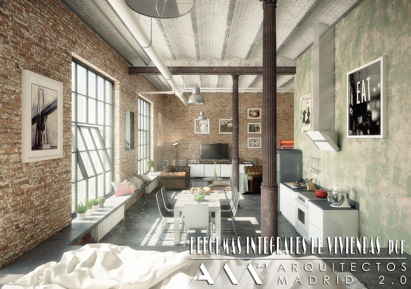 decoracion-interiores-reforma-estilo-industrial-madrid-arquitectos